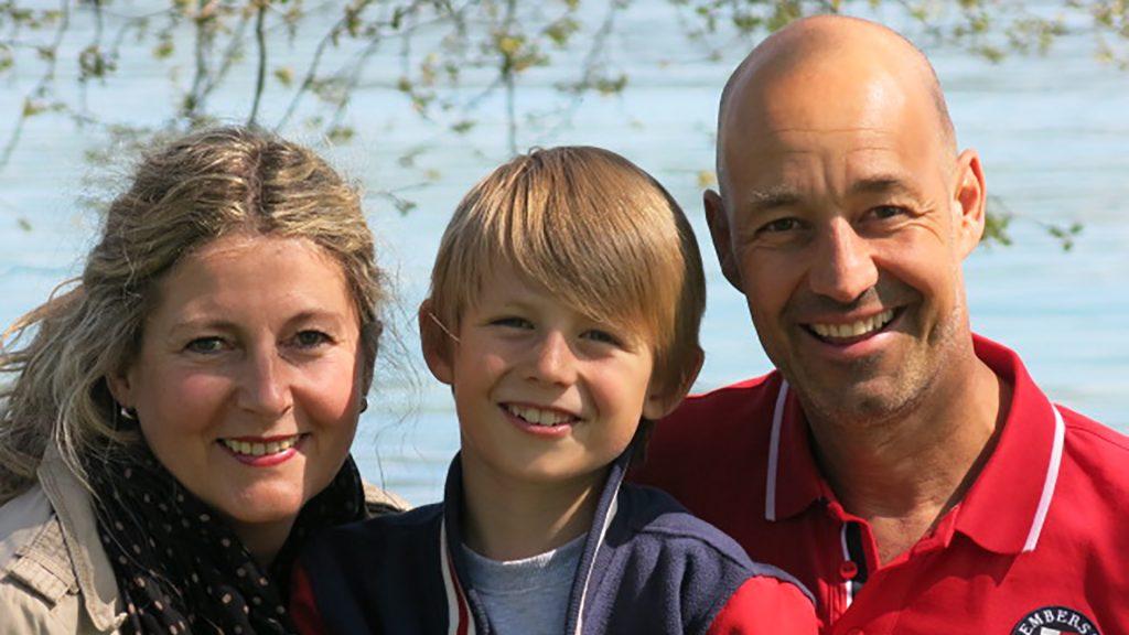 Familienfoto Heidi Heintz, Ur5s Camenzind und Sohne Felix